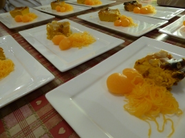 Foto van bordje assortiment Thaise desserts