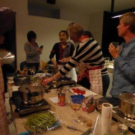 Foto van Thaise kookles met groep