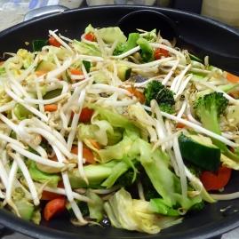 Foto van Thaise gewokte groenten