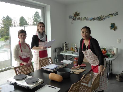 Foto van begin van de Thaise kookles