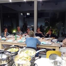 Foto van eten en tafel