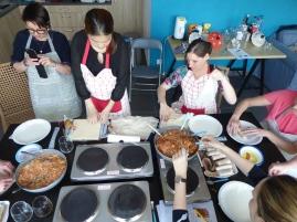 Foto van Thaise kookles in keuken