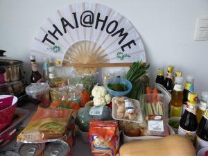 Foto van Thaise waaier met ingrediënten