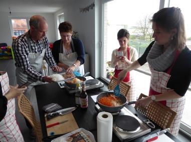 Foto van Thaise kookles met 4 mensen