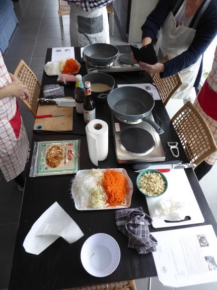 Foto van tafel voor workshop Thais koken