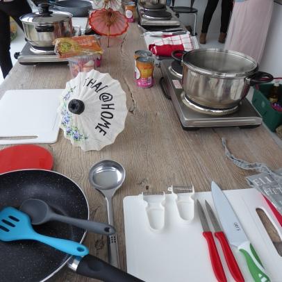 Foto van klaargemaakte keuken