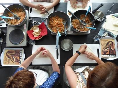 Foto van bovenaanzicht Thaise kookles Vlaanderen