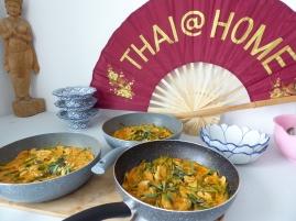 Foto van Thaise waaier met Thaise rode curry