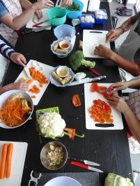 Foto van een Thaise kookles