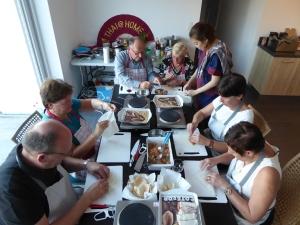 Foto van mensen die loepmia's maken