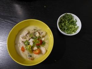 Foto van Thaise soep met koriander