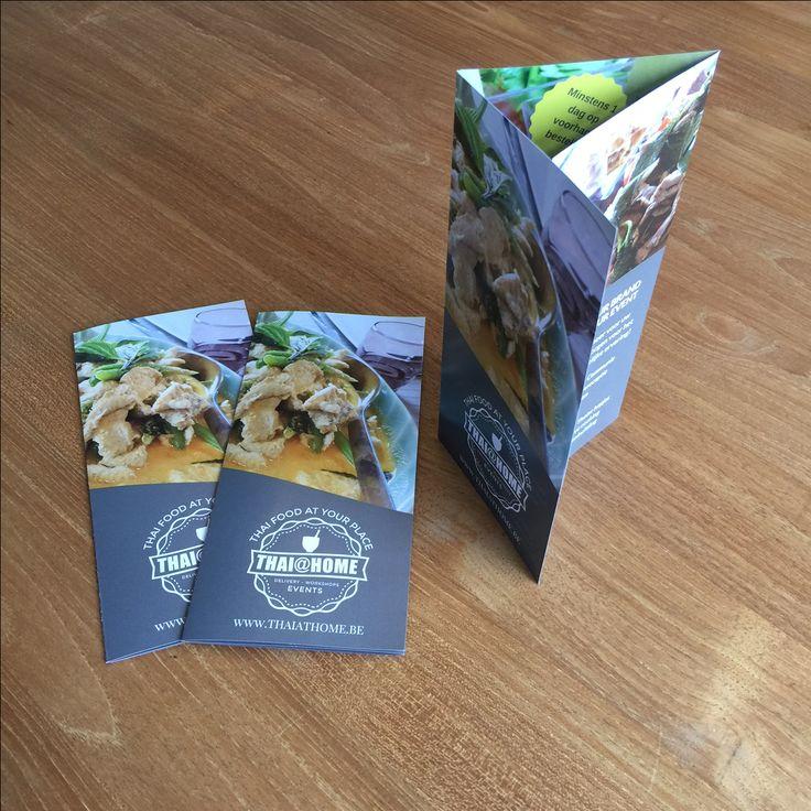 Foto van een folder voor Thais eten