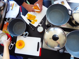 Foto van Thaise kookles met butternut pompoen
