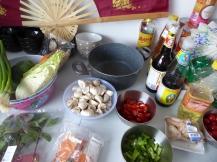 Foto van ingrediënten om Thais te koken