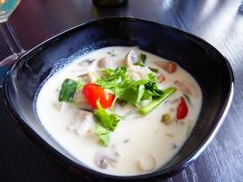 Foto van Thaise kokossoep met kip