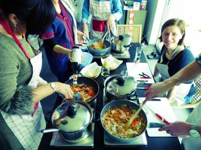 Foto van Thaise loempiavulling in de wok