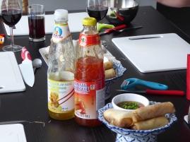 Foto van Thaise loempia's met zoete saus