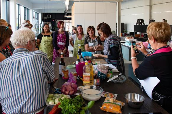 In de keukenles introduceren we de ingrediënten