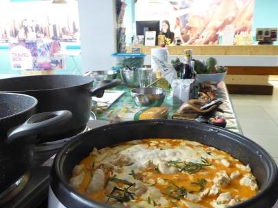 De curry is bijna klaar