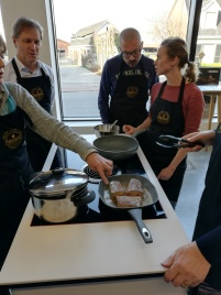 Kookgroep kookt steak