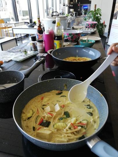 Wok met Thaise vegetarische curry