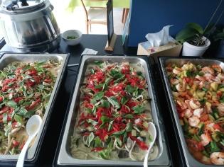 Buffet met Thais eten