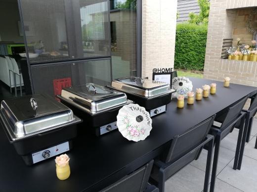 Chaffingschalen voor buffet