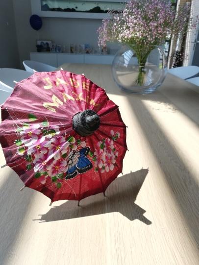 Thaise zijden parasol