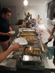 Thais buffet met loempia's