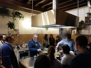 Keuken met team