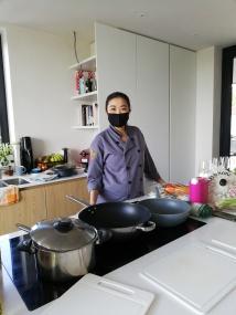 Chef Nokkie met mondmasker