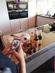 Fotoshoot van Thaise ingrediënten voor pad thai