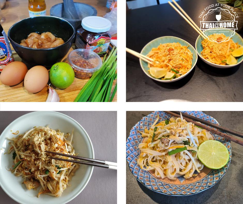 Collage van Thaise Pad Thai
